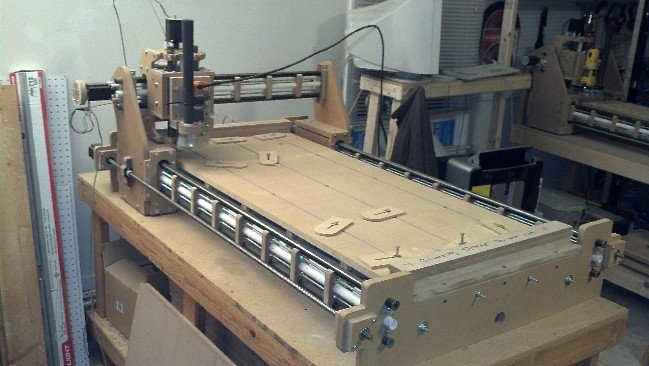 diy cnc router. completed 2x4 bs1 machine diy cnc router